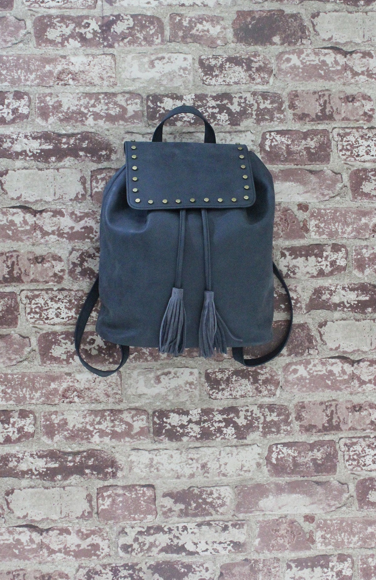 Backpack with Studs in Black