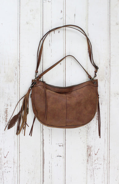 Slouchy Hobo in Cognac