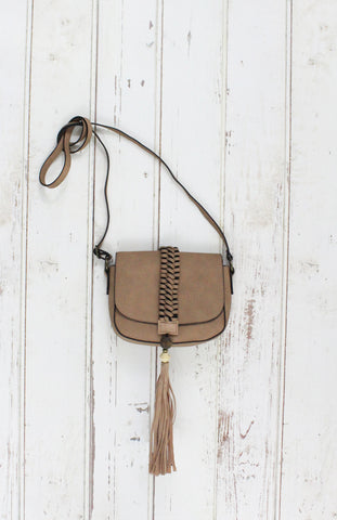 Sun Seeker Flap Crossbody in Tan