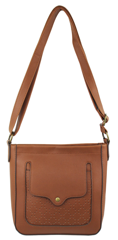 Madison Crossbody in Cognac