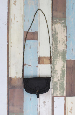 Flap Crossbody With Chain Strap