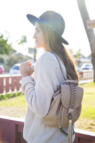 Sun Seeker Backpack in Tan