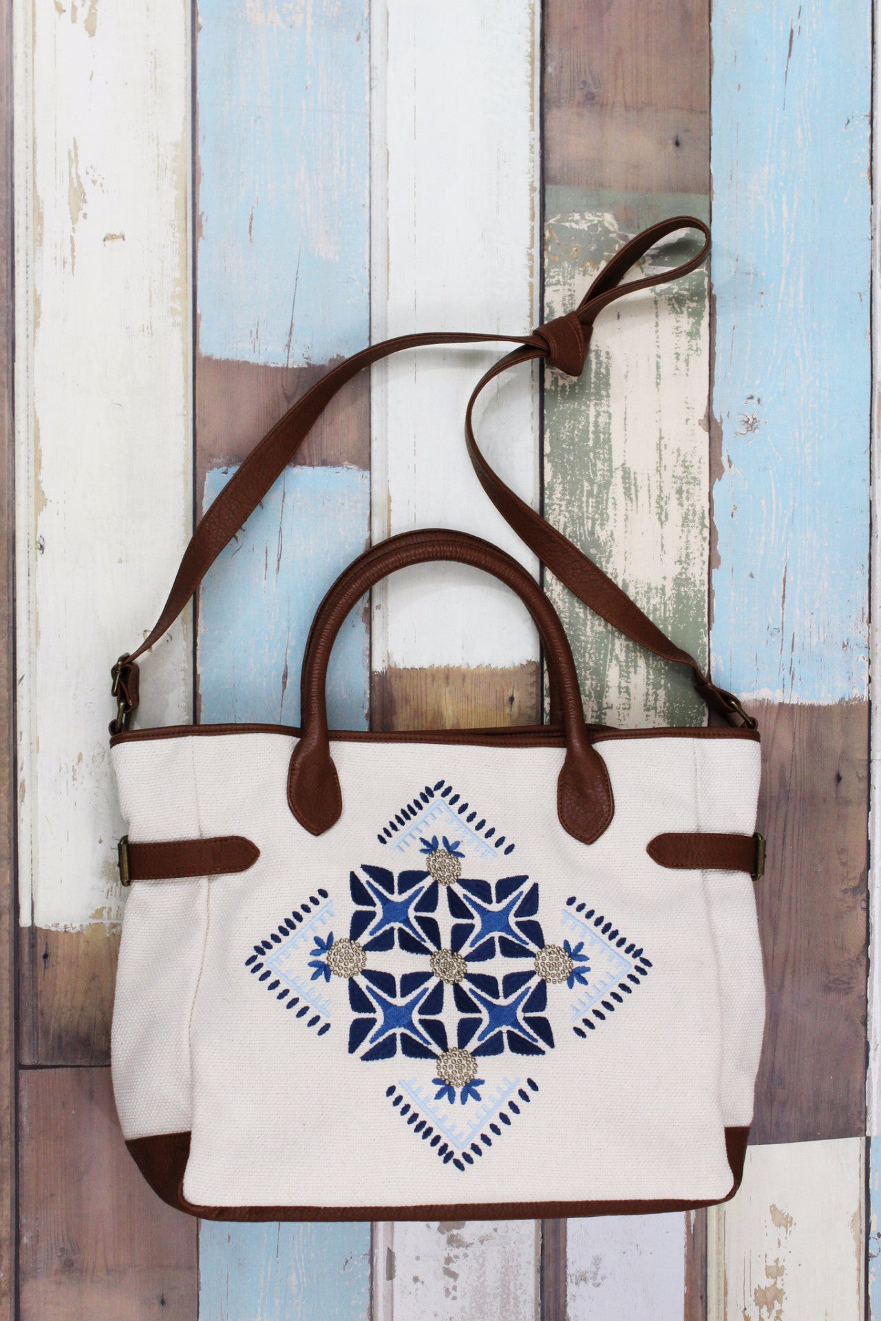 Shades of Cool Tote in Natural Canvas