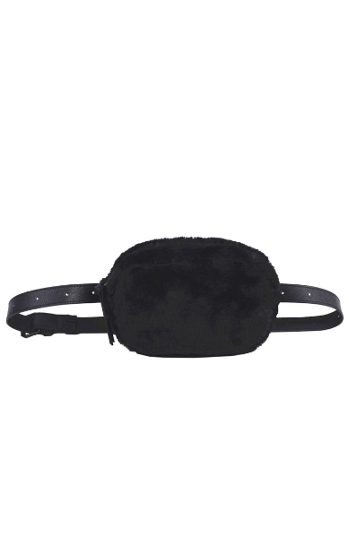 Olivia Belt Bag in Black Fur