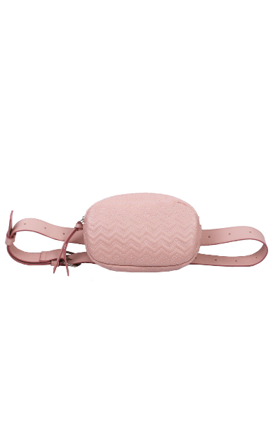 Olivia Belt Bag in Blush
