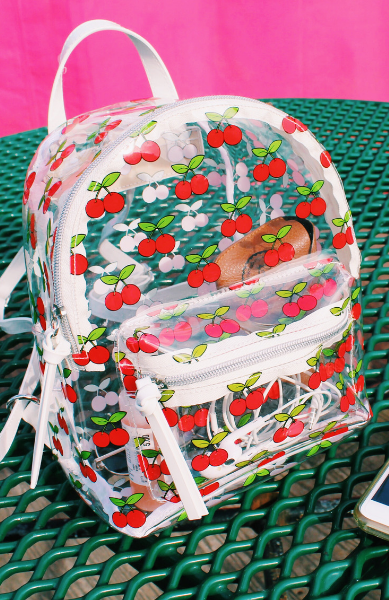 Jelly Backpack in Clear Cherry