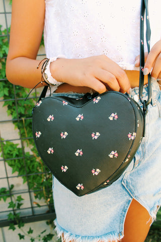 Summer Blooms Backpack in Black & Poppy