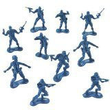 Fun Express Big Bag of Blue Army Plastic Toy Soldiers - Army Men! Action Figure (144 Count) - Funzalo Toys