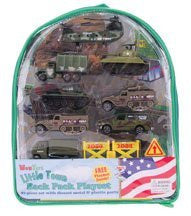 Military Vehicles Backpack Playset - Funzalo Toys