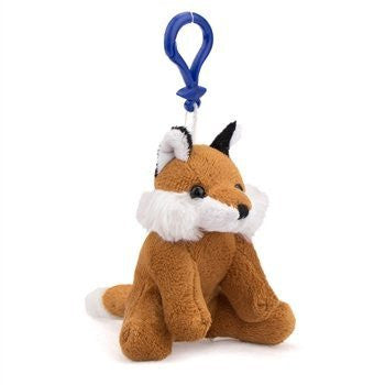 Fox Plush Red Fox Stuffed Animal Backpack Clip Toy Keychain WildLife - Funzalo Toys
