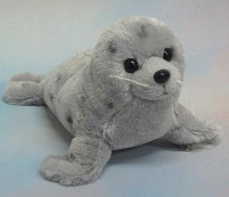 "Wishpets 10"" Grey Seal Plush Toy - Funzalo Toys"