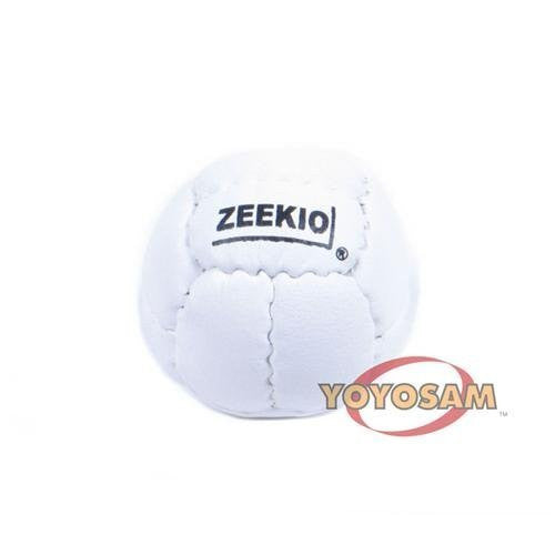 Zeekio Galaxy 12 Panel Leather Juggling Ball - White - Funzalo Toys