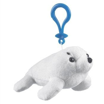 Harp Seal Plush Stuffed Animal Backpack Clip Toy Keychain WildLife Hanger - Funzalo Toys