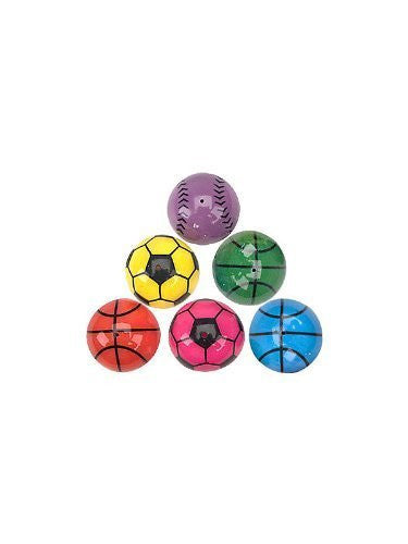 "Fun Express - SPORTS POPPERS - BULK, Size: 1.25"", Assorted Colors (1-Pack of 24) - Funzalo Toys"