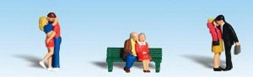 Woodland Scenics HO Scale Scenic Accents Figures/People Set Lovers - 3 Couples - Funzalo Toys