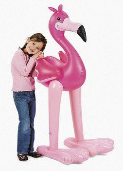5' GIANT Inflatable PINK FLAMINGO/LUAU PARTY Tropical Decoration - Funzalo Toys