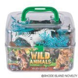 Adventure Planet Wild Animals Set with Carrying Case, 20-Piece - Funzalo Toys