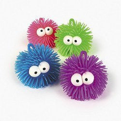 PUFFER BALL WITH EYES (1 DOZEN) - BULK - Funzalo Toys