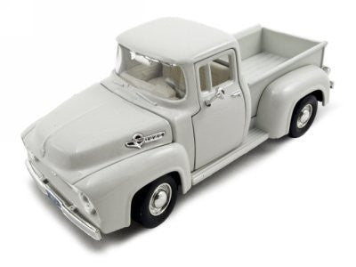 1956 Ford F-100 Pickup Cream 1:24 Diecast Car Model - Funzalo Toys