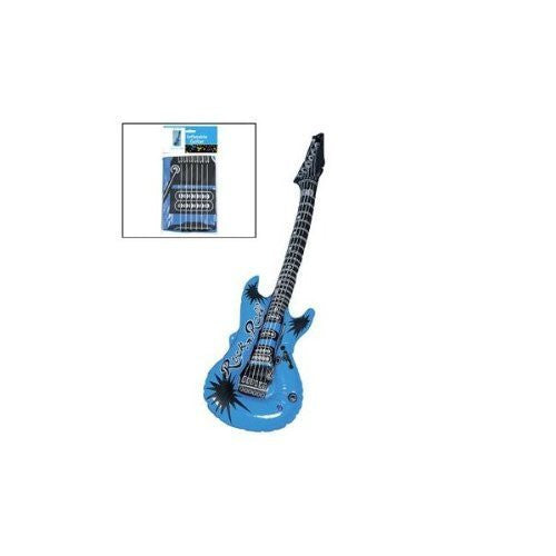 Blue Inflatable Guitar (1 piece) - Funzalo Toys