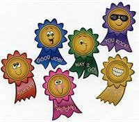100 Motivational Smile Face Roll Stickers, 1 Roll - Funzalo Toys