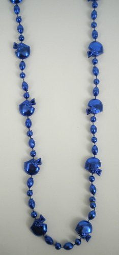 36 INCH Royal Blue Football Helmet Bead Necklace (DOZEN) - Funzalo Toys