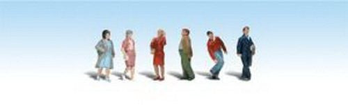 Woodland Scenics HO Scale Scenic Accents Figures/People Set People Walking (6) - Funzalo Toys