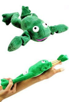 """Freddie"" the Flying Slingshot Frog - Funzalo Toys"