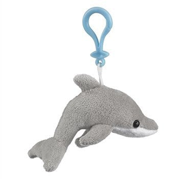 Dolphin Stuffed Animal Clip Toy Keychain By Wild Life Artist - Funzalo Toys