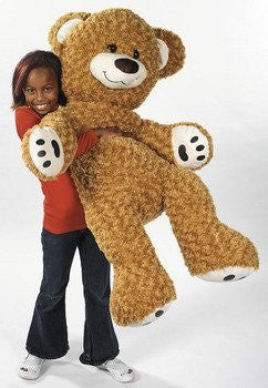 "46"" Plush Jumbo Brown Teddy Bear Toy - Funzalo Toys"