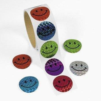 100 Halographic Smiley Face Stickers - Funzalo Toys