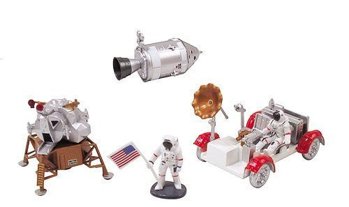 InAir E-Z Build Model Kit - Apollo Lunar Module with Lunar Rover - Funzalo Toys