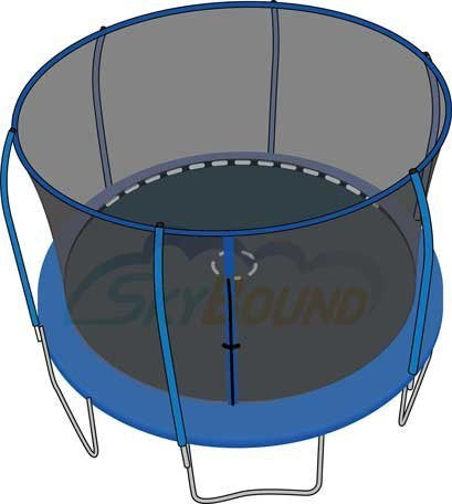 12' Trampoline Enclosure Safety Net for 6 Pole / Top Ring fits Bounce Pro - Funzalo Toys