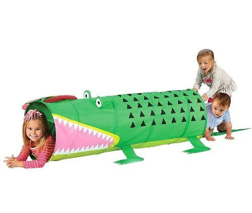Alligator Play Tunnel with Carry Case - Indoor/Outdoor Pop Up Tunnel - Funzalo Toys
