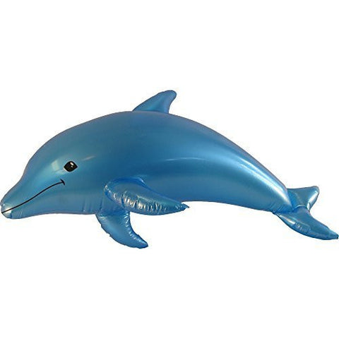 "40"" Inflatable Colored Dolphin Prop Decoration-Blue - Funzalo Toys"