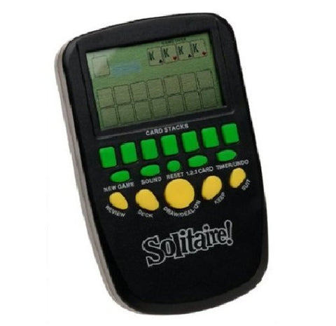 Electronic Pocket Solitaire (Large LCD Screen) - Funzalo Toys