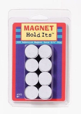 Adhesive Magnet Dots - Includes 100 Magnetic Adhesive Backed Dots - Funzalo Toys