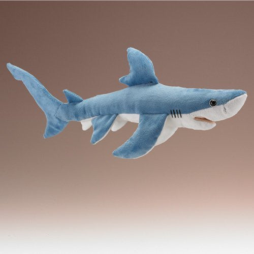 Blue Shark Plush Toy By Wildlife Artists - Funzalo Toys