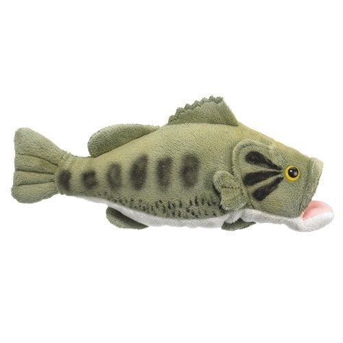 "Wild Life Artist Large Mouth Bass Plush Toy, 10"" L - Funzalo Toys"