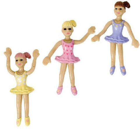 'Buy Fun Toys' Bendable Ballerinas: 12 Dancer Figures in Colors - 3 Inches Tall