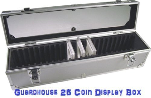 Aluminum Storage Box for 25 Universal Coin Slab Holders by Guardhouse - Funzalo Toys