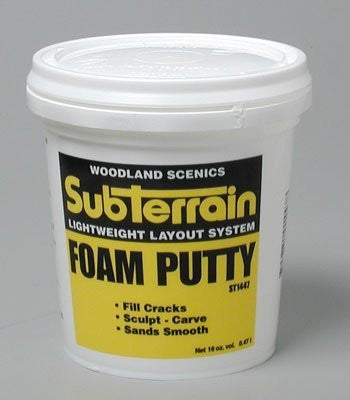 Woodland Scenics WS 1447 Foam Putty 1 Pint - Funzalo Toys