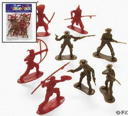 Cowboy and Indian Toy Figures Special Sale Price 12-pc