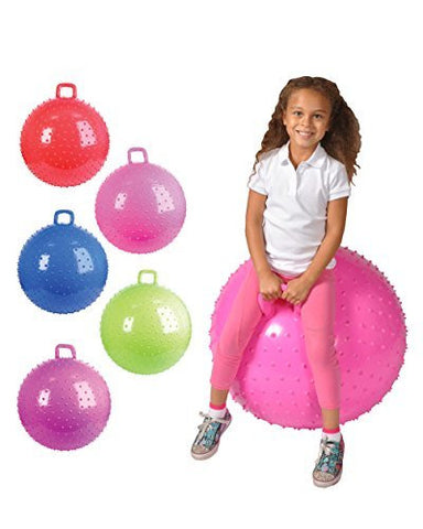 "36"" Knobby Bouncy Ball with Handle (Colors may vary) - Funzalo Toys"
