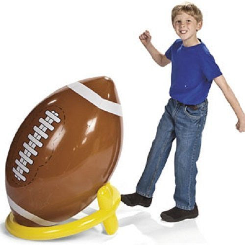 Jumbo Giant Inflatable 4ft Football With Tee by Fun Express - Funzalo Toys