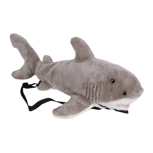 "23"" Great White Shark Plush Stuffed Animal Little Backpack - Funzalo Toys"