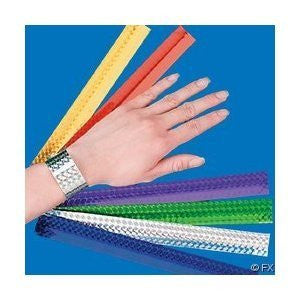 12 Diamond Metallic Slap Bracelets - Funzalo Toys