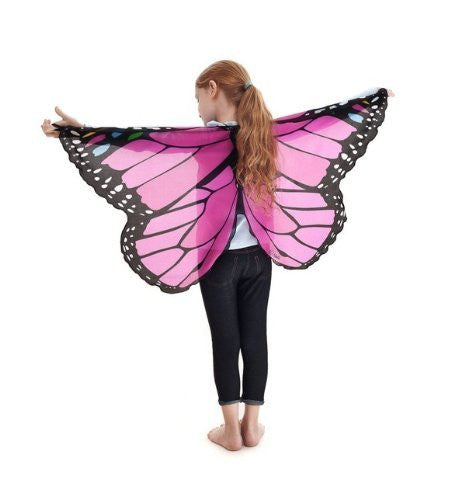 Douglas Dreamy Dress-ups Fanciful Fabric Wings - Pink Monarch Butterfly by Douglas Toys - Funzalo Toys