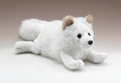 "Arctic Fox Lying Plush Toy 17"" Long - Funzalo Toys"