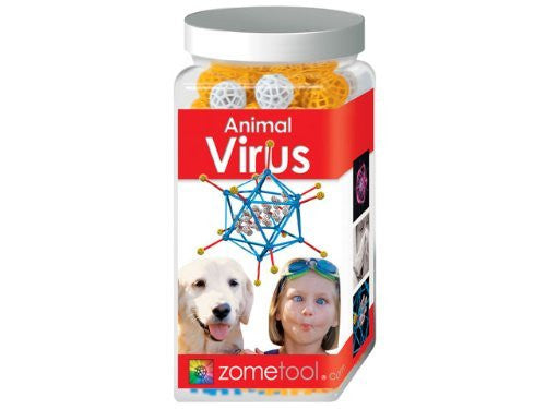 Zometool Animal Virus Science Kit - Funzalo Toys